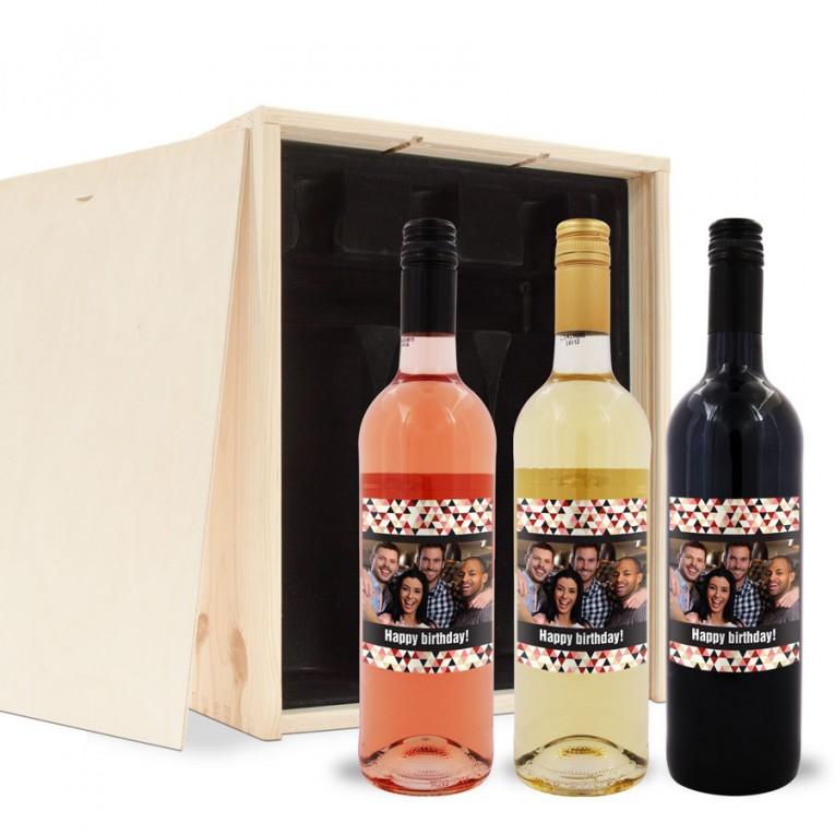 persoonlijke wijnfles pakket