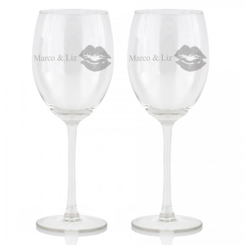 Gegraveerde Wijnglazen Huwelijkscadeaunet
