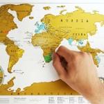 Kras wereldkaart als huwelijkscadeau
