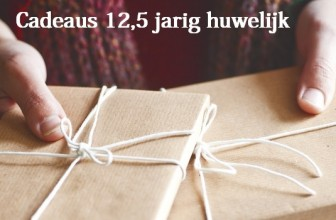 cadeau 12,5 jarig huwelijk