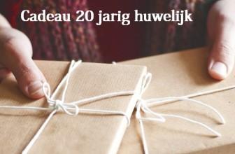 Cadeau 20 jarig huwelijk