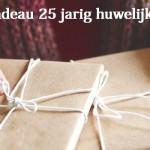 25 jaar getrouwd cadeau