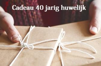 Cadeau 40 jarig huwelijk