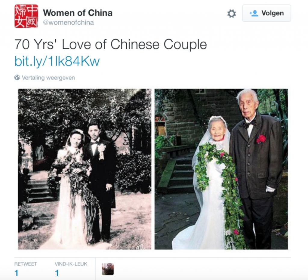 70 jarig huwelijk