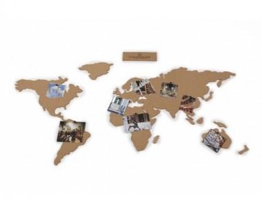 Wereldkaart prikbord als huwelijkscadeau
